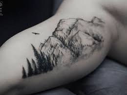 Usually Mountain Tattoos Are Partnered With Trees As In Real Life But This Could Also Show A Deeper Message Since Forests Symbols Of Strength