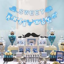 Unomor Baby Shower Banner Decoration For Baby Announcement Birthday Party Decorations Gender Reveal Baby Boy Banner