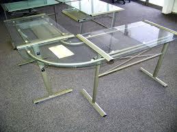 desk l glass desk l shaped glass top desk ikea computer desk 140