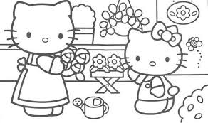Hello Kitty Ice Cream Coloring Pages