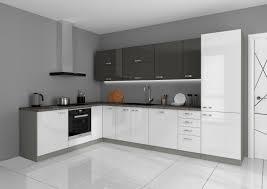 details zu küche ecke v 210x330 küchenzeile hochglanz weiss grau küchenblock grey
