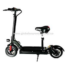 China 10 Inch Wheels Electric Scooters With Seatkick Folding
