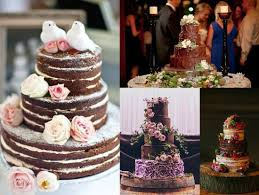 Rustic Chocolate Wedding Cakes