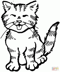 Download Coloring Pages Kittens Cute Kitten Page Free Printable To