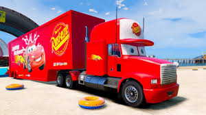 Colors Lightning McQueen Transportation W/ Mack Truck Hauler ...