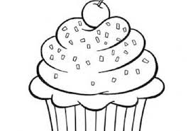 Cupcake Coloring Pages Color Food