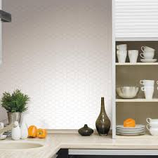 Smart Tiles Peel And Stick by Roommates Pearl Hexagon Peel And Stick Tile Backsplash 4 Pack