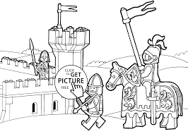 Lego Coloring Page Duplo Knights For Kids Printable Free Pictures