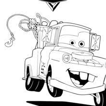 Mater The Tow Truck Coloring Page