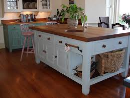 Custom Made Blue Shabby Chic Kitchen Island