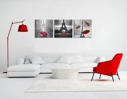 Eiffel Tower Bathroom Decor by Romantic Black And White Paris Eiffel Tower Set Of 3 Canvas