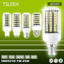 tsleen b22 e27 e14 gu10 g9 type 7w 9w 12w 15w 20w 25w led light