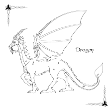 Coloring Book Dragon By Drelion