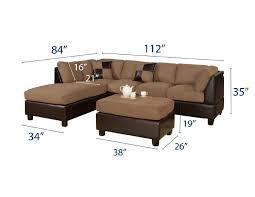 Poundex 3pc Sectional Sofa Set by Bobkona Hungtinton Microfiber Faux Leather 3 Piece Sectional Sofa