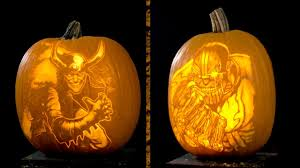 Nerdy Pumpkin Carving by Marvel Pumpkin Carving Villains Youtube