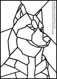 Siberian Huskies In Stained Glass