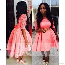 2017 african fashion evening dresses jewel neck 1 2 sleeve hi lo