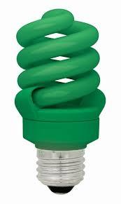 13 watt compact fluorescent bulb e26 medium base green tcp