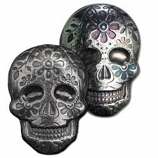 Easy Sugar Skull Day Of by 2 Oz Silver Sugar Skull Monarch 3d Poured Bar Day Of The Dead