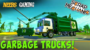 Scrap Mechanic - Garbage Truck Challenge! - YouTube