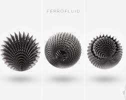 ferrofluid patterns by anik biswas mathgeo pinterest
