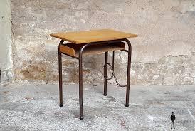 bureau d 馗olier ancien en bois 1 place bureau ancien écolier en bois et métal