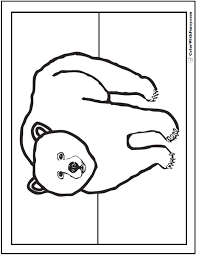Preschool Grizzly Coloring Picture Mr Bear