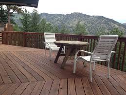Behr Premium Deck Stain Solid by Restored Deck With Eco Friendly Boodge Decking Stain In Dark Cedar