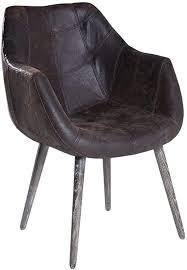 2x armlehnenstuhl stuhl leder braun mit holzbeinen