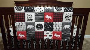 Sock Monkey Crib Bedding by Adventure Moose Baby Boy Crib Bedding Moose And Bears Black