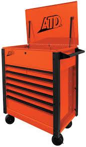 7-Drawer Flip-Top Tool Cart, Orange At National Tool Warehouse