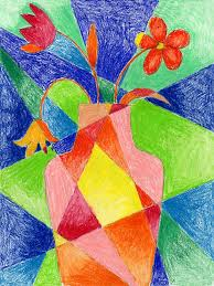 Still Life Twist Art Projects For Kids Abstract Flower Drawing