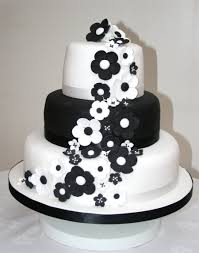 Wedding CakesBlack And White Cakes With Flowers Beautiful Elegant Black
