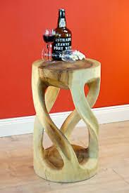 details zu beistelltisch holz massivholz wohnzimmer tisch holztisch rund natur podest hell
