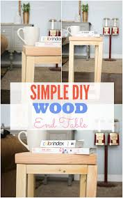 simple diy wood side table