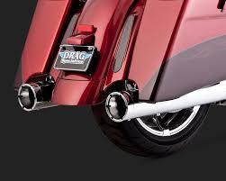 Vance And Hines Dresser Duals Heat Shields by Monster Round Catalytic Slip Ons Vance U0026 Hines