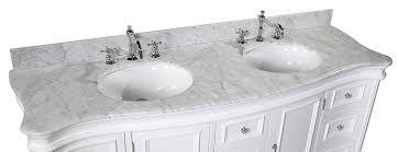 18 Deep Bathroom Vanity Set by Katherine 72 Inch Double Vanity Carrara White Includes White