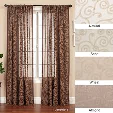 cypress rod pocket 120 inch curtain panel free shipping today