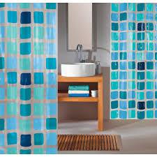 obi duschvorhang 120 cm x 200 cm blue