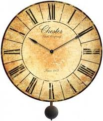 24 Large Chester Pendulum Wall Clock Decorative Antiqued