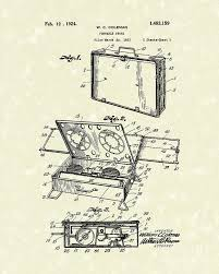 Portable Stove 1924 Patent Art Drawing By Prior Design