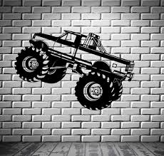 100 Monster Truck Wall Decals Stickers Car Pickup For Garage SUV Sport Vinyl