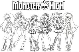 Monster High Coloring Sheets Free Printable For Kids