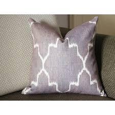 Edom Grey Ikat Pillow Cover 18x18 20x20 22x22 24x24 26x26 cotton linen pillow covers 305