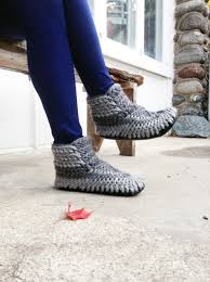 knitted slipper boots with leather soles slipper boots for women