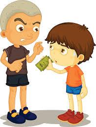 Bullying vector art illustration