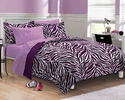 Purple Zebra Comforter Set Twin XL Full Or Queen Bed In A Bag Bedding Ensemble Teen Girl