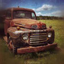 100 Rusty Trucks Old Ford Truck In A Field Alberta Countryside Canada