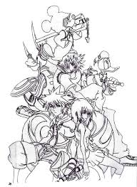 Kingdom Hearts Coloring Pages Here Home Sora And Friends