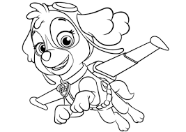 Skye Flying Photo Pic Paw Patrol Coloring Pages